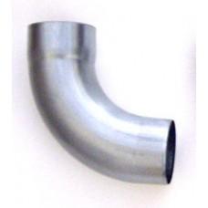 Zinken bocht 72º, rond (gelast), Ø100 mm, natural grey
